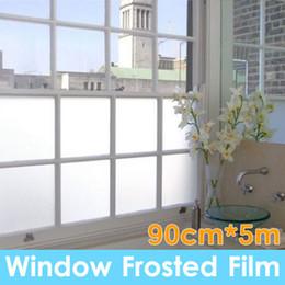 90 centímetros * 5m areia explosão privacidade fosco geada Windows vidro filme removível de