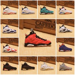 Wholesale Cartoon Basketball Shoes - Fashion Sneakers Keyrings Charm Basketball Shoes Sneakers Key Chain Rings Novelty Keychains Hanging Accessories 20 Styles C90L