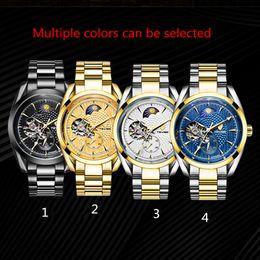 Wholesale Natural Gas Lighting - Genius Swiss tritium gas Carnival watch, waterproof mechanical watch, men's all steel military watch, natural light