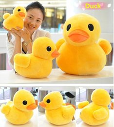 Wholesale Cute Duck Plush - Wholesale- 20cm duck Plush stuffed toys big yellow duck plush toys stuffed duck doll for children cotton soft Cute Gift for Kids