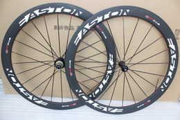 Wholesale Cheapest Carbon Fibre Bikes - 2017 cheapest Easton EC90SL with Novatec A271 hubs Carbon Wheelset matte bicycle wheels 50mm clincher road cycling bike wheel set 50mm