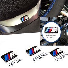 Wholesale Bmw Hubs - Styling M Steering Wheel Sticker Wheel Hub Sticker for BMW 3 5 7 Series M3 M5 M6 F30 F20 F10 E46 E39 E96