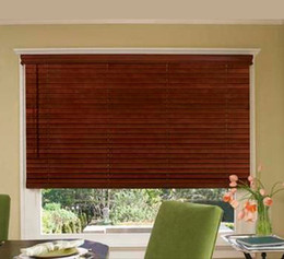 Wholesale Wood Blinds Horizontal - Wholesale-FREE SHIPPING QUALITY MADE TO MEASURE TIMBER VENETIAN BLINDS