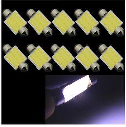 Wholesale Cob Car Interior Light - 100PCS 31mm 3W Led COB Car Interior Festoon Led Dome Light Lamp Bulb 31mm Bulbs Auto Roof Light Source wholesale