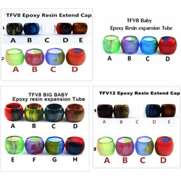 Wholesale Wholesale Acrylic Babies - Resin Replacement tube for SMOK TFV8 TFV8 Baby TFV8 Big Baby TFV12 tank acrylic Expansion tank Epoxy resin tube Drip Tip big Capacity