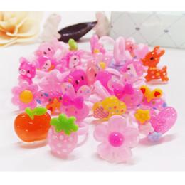 Wholesale Resin Rings Free Shipping - Korean pure hand ring jewelry children resin ring cartoon cute children ring factory direct free shipping