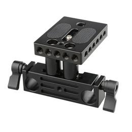 Wholesale 15mm Rails - CAMVATE DSLR baseplate railblock 15mm rail rod support system mount fr follow focus rig