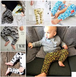 Wholesale Dinosaur Pants - 6 color INS Spring Autumn kids Dinosaur animal pattern Leopard Pattern trousers kids boby cartoon trousers