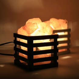 Wholesale Wholesale Cozy - Resin Salt Lamp Health Stones Himalayan European Decorative Small Night Lamp Bedside Bedroom Cozy Creative Nightlights for Home and Garden