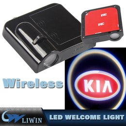 Wholesale Door Step Logo Led Light - Vehicle Car LED wireless projection LOGO Mark Door Welcome Light Door Step Ground Projecting Lamp For All Brands K IA