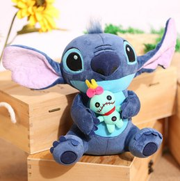 Wholesale Stitch Dolls For Sales - Wholesale- 1pc 23cm Hot Sale Cute Cartoon Lilo and Stitch Plush Toy Soft Stuffed Animal Dolls Best Gift for Children Kids Toy