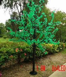 Ha portato gli alberi di simulazione online-LED impermeabile outdoor paesaggio giardino peschiera lampada simulazione 1,8 metri 864 luci LED ciliegio albero luci decorazione del giardino
