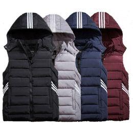 Wholesale Cotton Vest Jacket - Wholesale- 2016 Winter Brand New Men's Hooded Warm Thermal Waistcoat Male Fashion Sleeveless Jacket Down Vest Plus Size XL -- 9XL