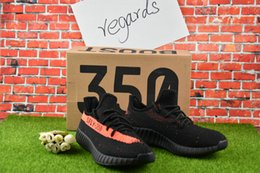 Wholesale Glow Art - With Box 2017 boost 350 V2 Belgua Copper Olive Green Black Red Glow in dark SPLY 350 V2 season 3 New kanye west Running shoes