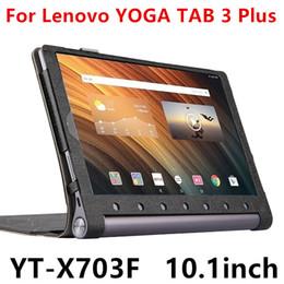 tableta tab3 Rebajas Al por mayor-Caso para Lenovo Yoga Tab 3 Plus cubierta de cuero inteligente de protección para YOGA TAB3 Plus YT-X703F manga protectora de la PU de 10.1 pulgadas