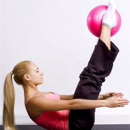 Wholesale Home Workouts - Mini PVC Pilates Yoga Ball 25cm Physical GYM Yoga Fitness Ball Home Exercise Balance Trainer Fitball for Workout