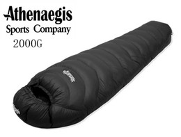 Wholesale Camping Mummy Sleeping Bag - Athenaegis high quality 2000G white goose down filling waterproof comfortable breathable warm sleeping bag