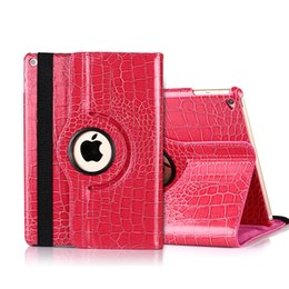 Wholesale Ipad Business Holster - Crocodile Pattern Rotation Case for iPad2 3 4 Fashion Stand Holster for mini3 Air2 Business Back Cover for MINI4
