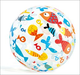 Wholesale Plastic Fishing Reels - PVC Beach Ball Toys Round Star Fish Inflatable Ball Adult Children Sand Play Water Fun Toys stars fish Beach Ball 51cm KKA1899 WD005AA