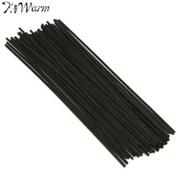 óleo de fragrância para difusor Desconto Atacado-50Pcs New Black Rattan Reed Fragrância Oil Difusor Substituição Recargas Sticks Partido Home Bedroom Bathrooms Decor Presentes 250x3mm