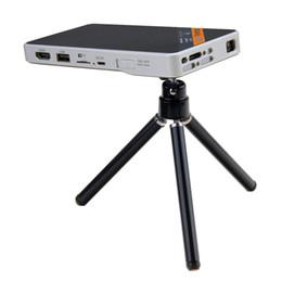 Wholesale Pocket Tripod - Wholesale- Pocket Projector Ultra-Thin 1080P HD Home Theater Mini Portable Wifi Smart DLP Projector with Tripod
