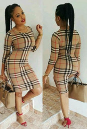 Wholesale Tight Skirt Pattern - Europe and the United States broke the sexy tight skirt lattice pattern dress Women's Dresses European American