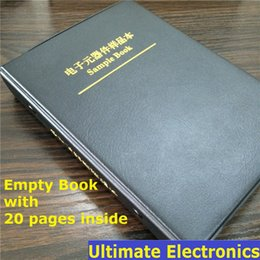 Wholesale Electronic Components Sample Book - Wholesale-Empty Sample Book with 20Pages(Empty pages) For 0402 0603 0805 1206 SMD Electronic Components