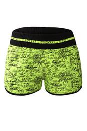 Wholesale Brazilian Swim Bottoms - Cryg Newest 2017 Women Bikini Bottom Brazilian Individual Handwriting Print Swim Shorts Maillot De Bain Femme Short
