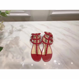 Wholesale Chunky Sandal Flats - new brand ankle wrap Bind high heels ankle strap womenleisure Slipper cloth diamond Sandals shoes flip flop ballet embroidery vintage