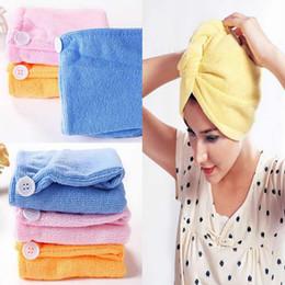 Wholesale Turban Hair Towels - Microfiber Magic Hair Dry Drying Turban Wrap Towel Hat Cap Quick Dry Dryer Bath make up towel