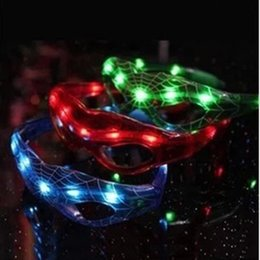 Wholesale Toy Dancing Flash - Spiderman LED Light Flashing Glasses Gift Cheer Dance Mask Christmas Halloween Days Gift Novelty LED Glasses Led Rave Toy Party Glasses