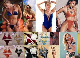 Wholesale White Bathing Suit Tops - Hot 2017 New Pleuche Women Sexy solid Swimsuit , Women Velvet Bikini tops ,Women Swimwear Girls Bikini Beach ,strap bathing Swimming Suit