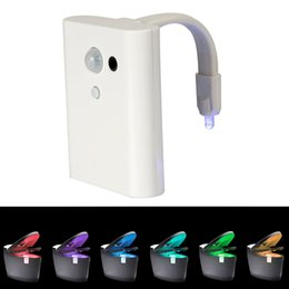 Wholesale Sounds Toilet - Toilet Night Light-Light Sensitive Water Resitive Motion-Activated 7 Colors LED Toilet Seat Night Light 5-stage Dimmer Toilet Bowl Light