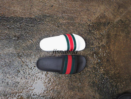 Wholesale Black Summer Heels - shop mens fashion summer outdoor beach Rubber slip-on slide sandals in black white size euro 40-45