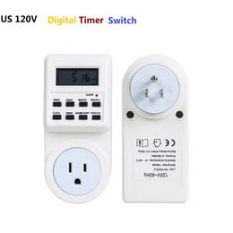 Interruptor de temporizador digital US 120V 1800W Pantalla LCD de Smart Home Temporizador de zócalo Enchufe Fuente de alimentación Función de memoria de configuración del reloj de la semana por DHL desde fabricantes