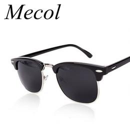Wholesale Eye Master - Wholesale-Half Metal Sunglasses Men Women Brand Designer Inspired Club Elegant Star Master Mirror Sun Glasses Gafas Oculos De Sol UV400