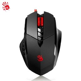 Wholesale Mouse Custom - Wholesale- A4tech Bloody V7M 3200DPI Gaming Mouse 3D Wired Dragon Custom 7 Keysters LOLFps Emperorship LOL CF Dota Mouse 2015 Hot Sale
