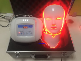 Wholesale Photodynamic Therapy Acne - 2017 hot selling 7 colors Photodynamic LED Facial Mask Skin Rejuvenation Electric Device Anti-Aging Face Mask Machine Therapy Beauty Machine