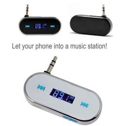 Wholesale S4 Wireless Car - Universal 3.5mm Car Wireless FM Transmitter Radio Modulator In-car Music Audio For iPhone 6S 6 PLUS 5S 4S iPod Samsung S7 S6 EDGE S4 XIAOMI