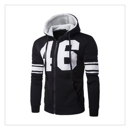 Wholesale Korean Fashion Men S Cardigan - Hoodies for Men Autumn&winter Fashion Letter Printing Men's Sports Korean Style Set Head Thicken Hooded Cardigan Hoodies US Size:XS-L