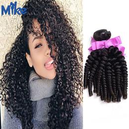 Wholesale Factory Price Wholesale Indian Hair - MikeHAIR 100% Human Hair Wefts Kinky Curly Brazilian Hair Bundles 4pcs lot Unprocessed Cheap Peruvian Indian Kinky Curly Hair Factory Price