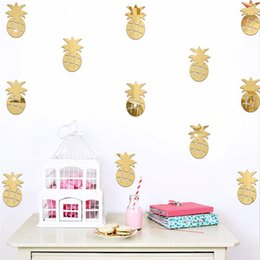 2017 decoracion de decoracion Decoración de pared creativa DIY Dormitorio Dormitorio de niños Decorar Fruta de piña Espejo Wall Stickers Decoración de hogar extraíble 7 2jz C R económico decoracion de decoracion