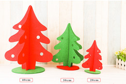 Wholesale Luminous Long Fabric - Non-woven fabrics merry Christmas decoration tree home and office desk decoration for Christmas festival day
