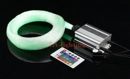 Fibre optique à changement de couleur en Ligne-Haute qualité fibre optique kit de lumière led source de lumière + 200pcsx0.75mmx2.5m fibres RVB changement de couleur étoile IR lampe de plafond à distance