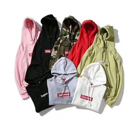 Wholesale Double Sided Sweater - 2017 Sup Brand OFF WHITE Hoodies Sleeve Streetwear Side Double Pattern colors Virgil Abloh skateboard Sweater palace fleece