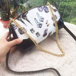 Wholesale Shoulder Bag Print - Print Lady Shoulder Bags Socialite Style Patent Leather Versatile Small Shoulder Bags with Open Pocket 50140