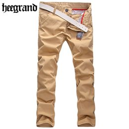 Wholesale Fly Briefs - Wholesale-HEE GRAND 2016 New Men Cotton Blend Solid Long Straight Trousers Casual Brief Leisure Male Pants Hombre Pantalones MKX318