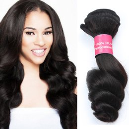 Wholesale Cheap Loose Wave Weave - Great Quality 8A Brazilian Virgin Hair Dyeable Malaysian Peruvian Mongolian Loose Wave Human Hair Weaves Hair Extensions 3pcs lot Cheap