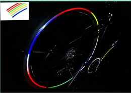 Wholesale Wheel Reflective Tape Bike - Bike Reflective Sticker Fluorescent MTB Bike Bicycle Motorcycle Wheel Tire Tyre Reflective Tape Decal Tape Safety Silver For Bike 8pcs lot