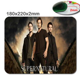 Wholesale Hot Cool Pad - Hot sale cool supernatural starring black poster rubber game non-slip 180 x220x2mm   250 x290x2mm game mouse pad mat
